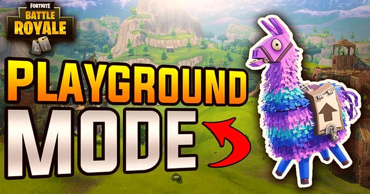 Fortnite Playground Mode Features The Return Of Fortnite Playground Mode In The Update V5 10 Downloadfortnite Com